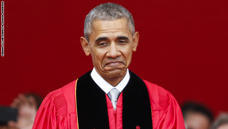 NEW BRUNSWICK, NJ - MAY 15: U.S. President Barack Obama waits to receive and honorary doctorate of laws while attending the 250th anniversary commencement ceremony at Rutgers University on May 15, 2016 in New Brunswick, New Jersey. Obama is the first sitting president to speak at the school's commencement. (Photo by Eduardo Munoz Alvarez/Getty Images)