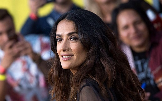 "Actress Salma Hayek attends the world premiere of Columbia Pictures and AnnaPurna Pictures ""Sausage Party"" in Westwood, California, on August 9, 2016. / AFP / VALERIE MACON (Photo credit should read VALERIE MACON/AFP/Getty Images)"
